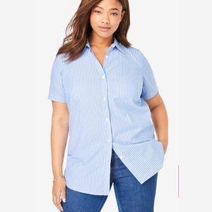 L.L.Bean Perfect Short Sleeve Button Down Shirt